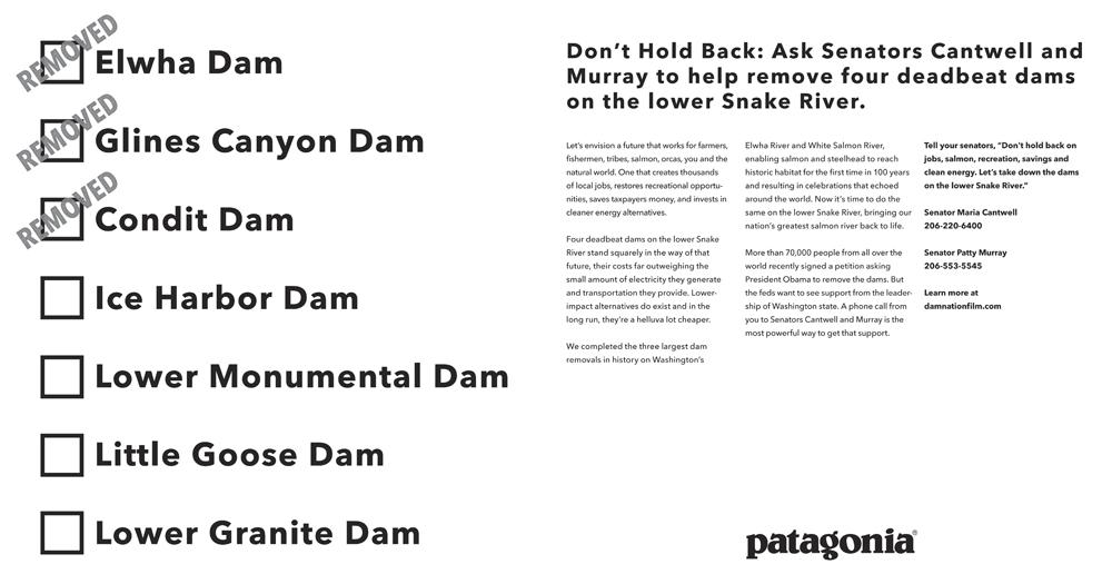 Patagonia ads take aim at lower Snake dams